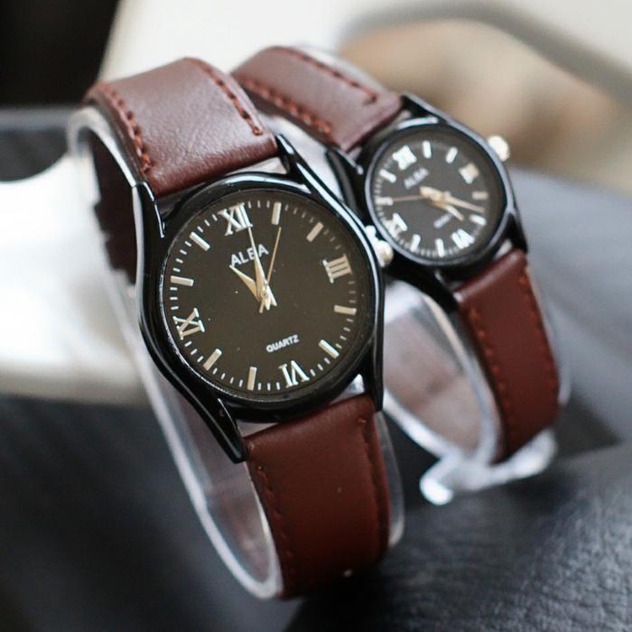 Jam tangan couple alba kulit pasangan / jtr 1216