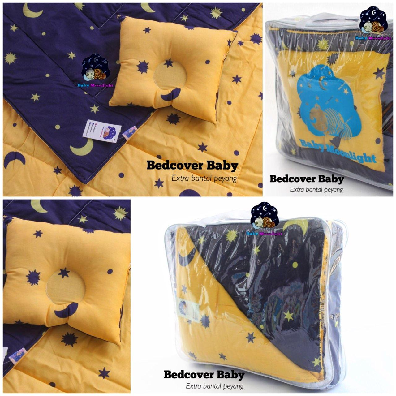 Baby Bed Cover - Starry Night By Babymoonlighthouse.