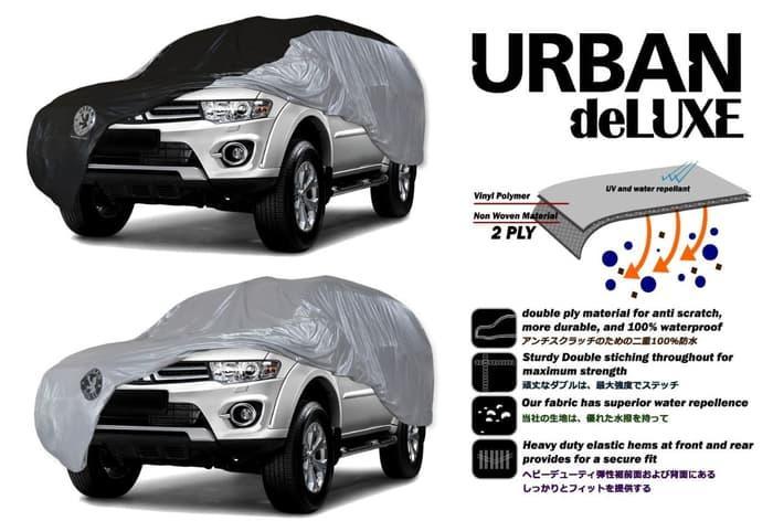 Mantel Mobil / Cover Mobil Besar Urban Deluxe L MVP Alphard Pajero Fortuner Venturer - Silver