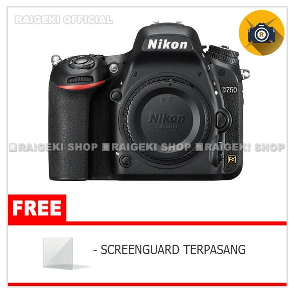 Nikon D750 Body Only - Free Screenguard Terpasang By Raigeki Shop.
