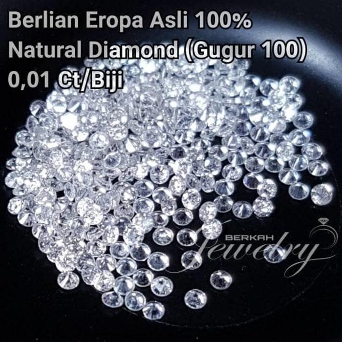Grosir Berlian Eropa Asli 100 % diameter 1,1mm Natural Diamond 0,01Ct