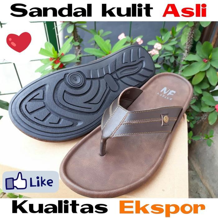 Best Seller!! Sendal Kulit Sapi Asli Garut Bukan Bandung Jogja Magetan | Sandal Pria - ready stock