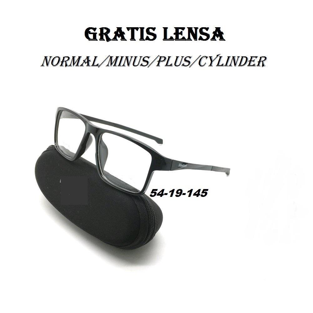Oki_Store Frame Kacamata Pria & Wanita R5779-Black Normal / Baca / Plus / Minus