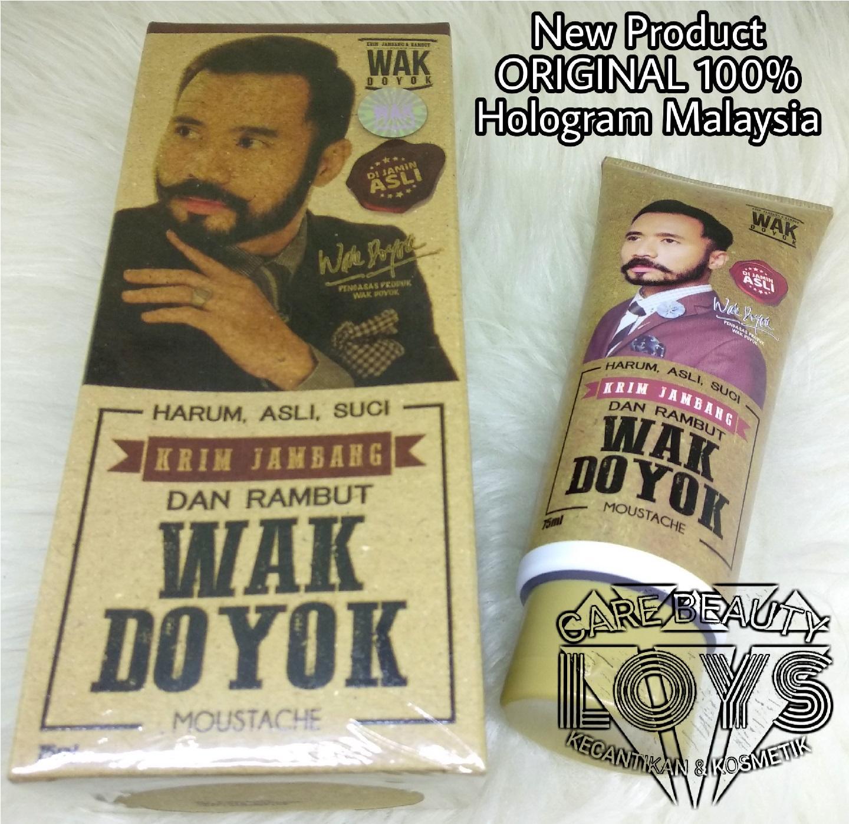WakDoyok Cream 75ml Original Hologram - Wakdoyok Krim Penumbuh Jambang & Rambut