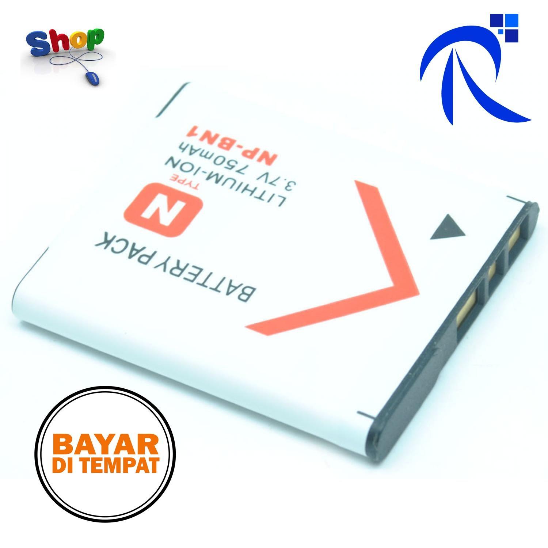 Battery Rimas Replacement for Sony Cyber-Shot - NP - BN1 Batre Baterai Pengganti Cadangan Untuk Kamera Camera Accesoris Putih White Free Ongkir Dan Bisa COD