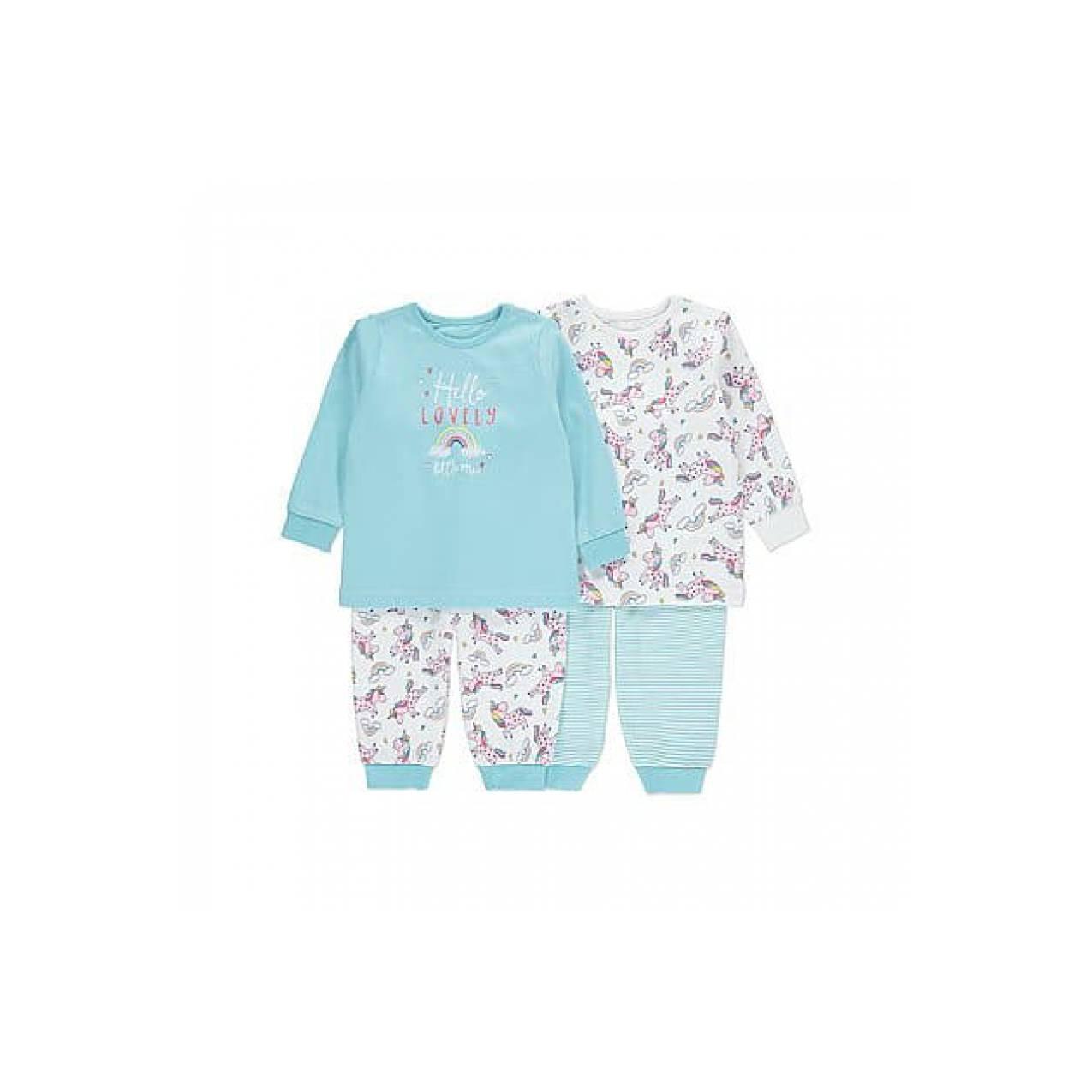 2 Set Piyama Unicorn Impor dari Inggris | Baju Tidur Anak Bayi Unisex