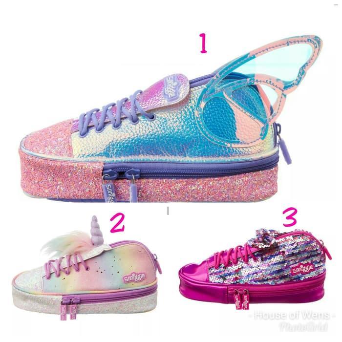 New Arrival Smiggle Sneaker Seeker Shoe Pencil Case - Tempat Pensil Smiggle - Asli Impor SG