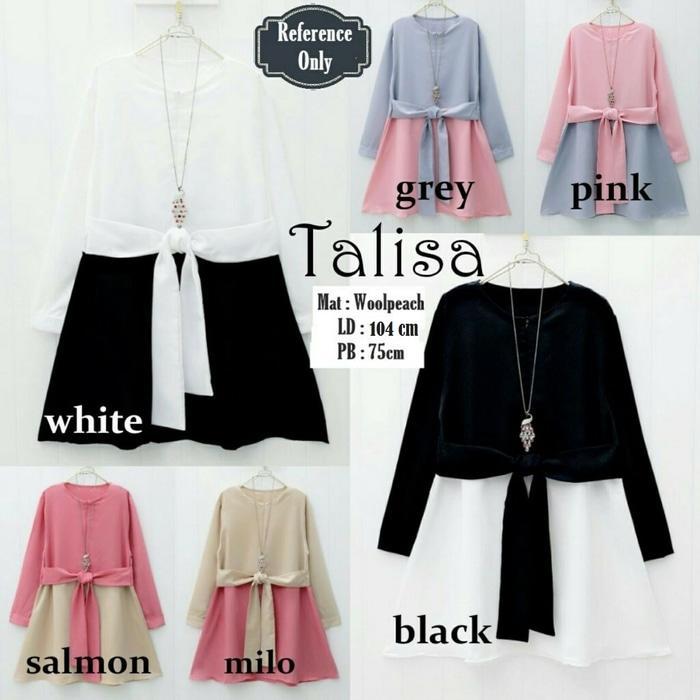 Baju Atasan Talisa Blouse Tunik Baju Muslim Blus Muslim 5feb76b5d1