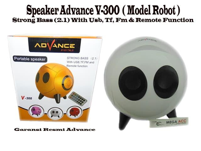 Speaker Advance V300 ( Model Robot ) Strong Bass (2.1) / Aneka Speaker Portabel Murah / Speaker Portabel Terbaru Terlaris