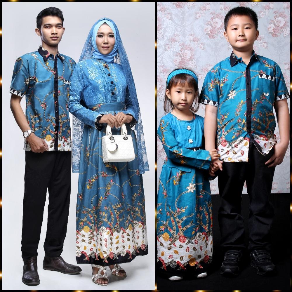 Batik Keluarga Gamis Naura Set