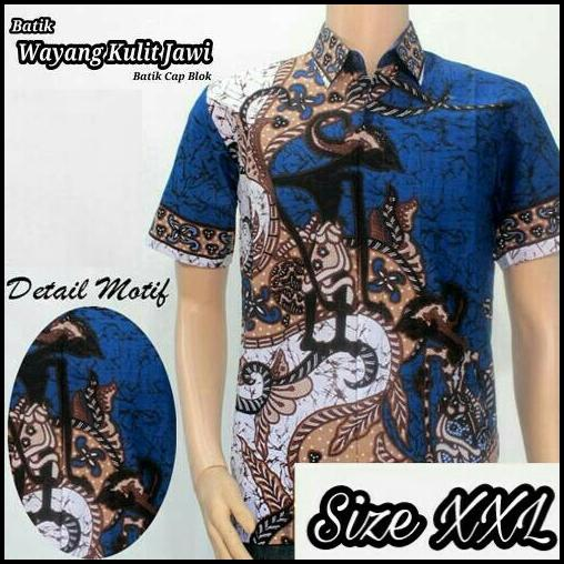 Model Kemeja Batik Pria Kemeja Batik Pekalongan Kemeja Batik Modern Motif Pandawa XXL