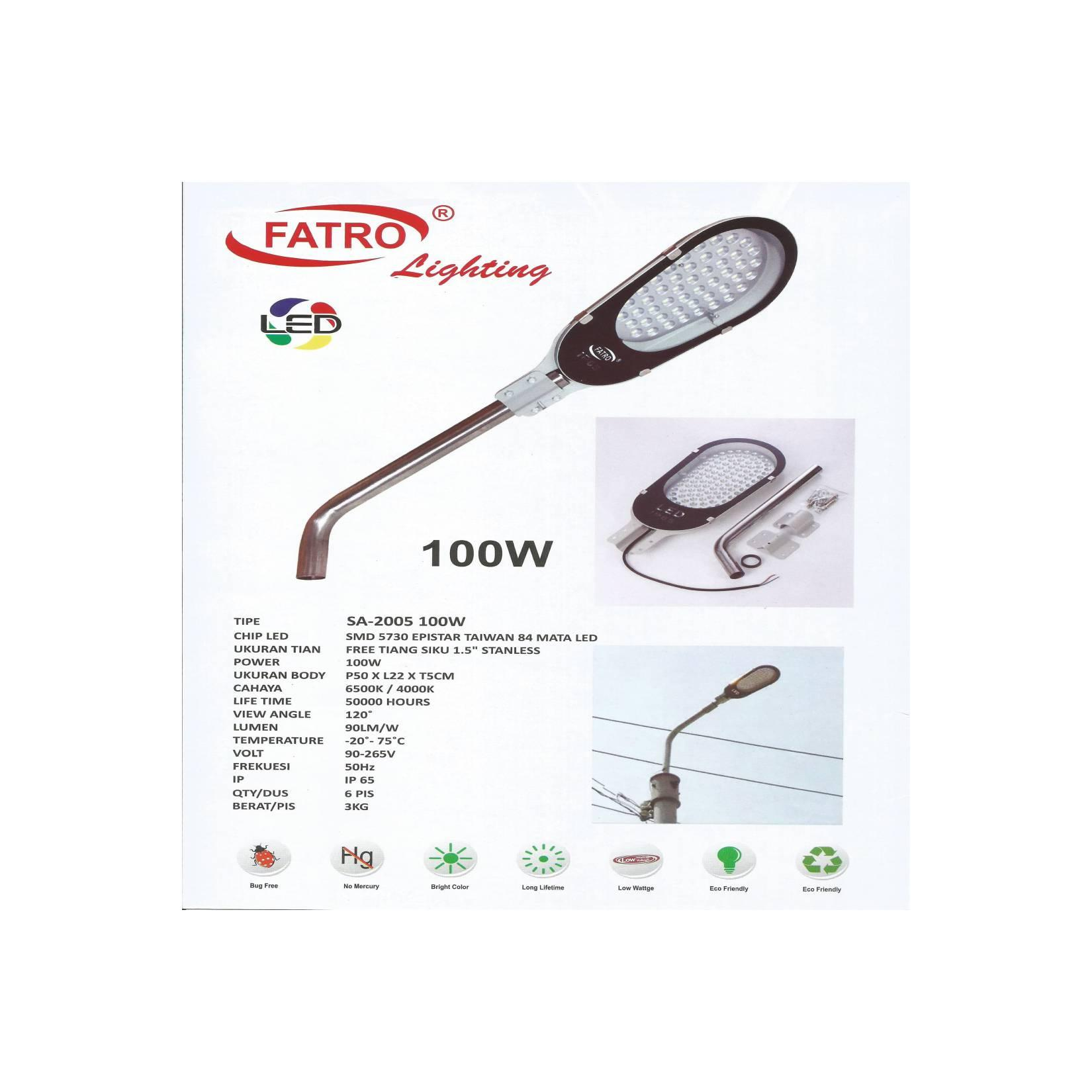 FATRO Street / Garden Light / Lampu Jalan / Taman LED 100 Watt