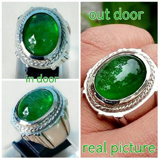 Diskon Promo Perhiasan Aksesoris Cincin natural zamrud kalimantan dengan ring tanam beda dari yg lain Murah