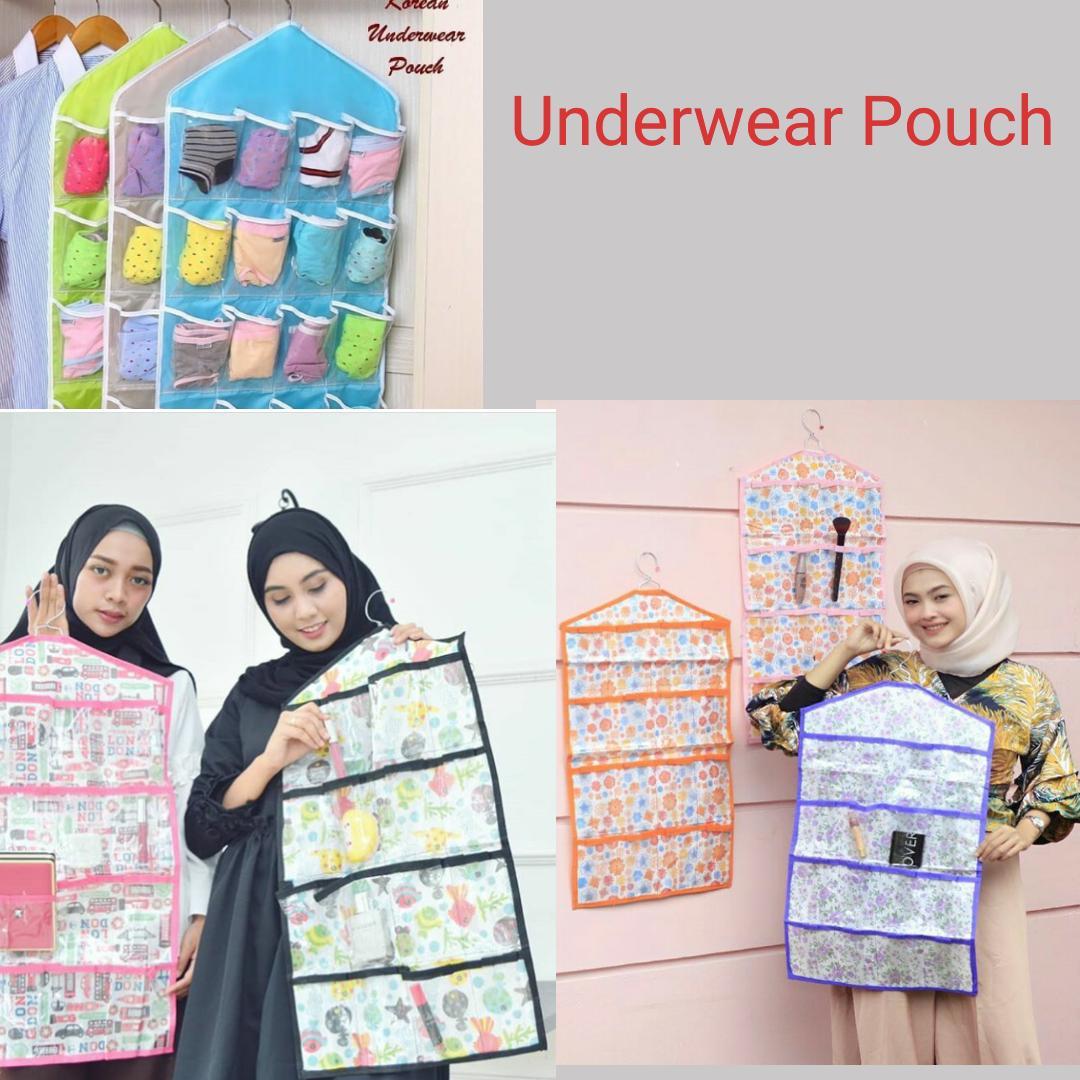 Buy Sell Cheapest Rak Murah Serbaguna Best Quality Product Deals Portable 5 Susun Buku Anischa Underwear Pouch Organizer 16 Sekat Kantong Tempat Penyimapanan Kaos Kaki