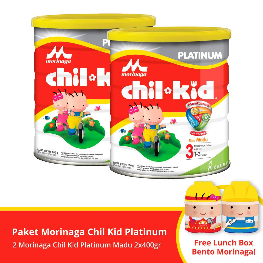 Buy 2 Chil Kid Platinum Moricare+ Honey 800gr Free Lunch Box Bento