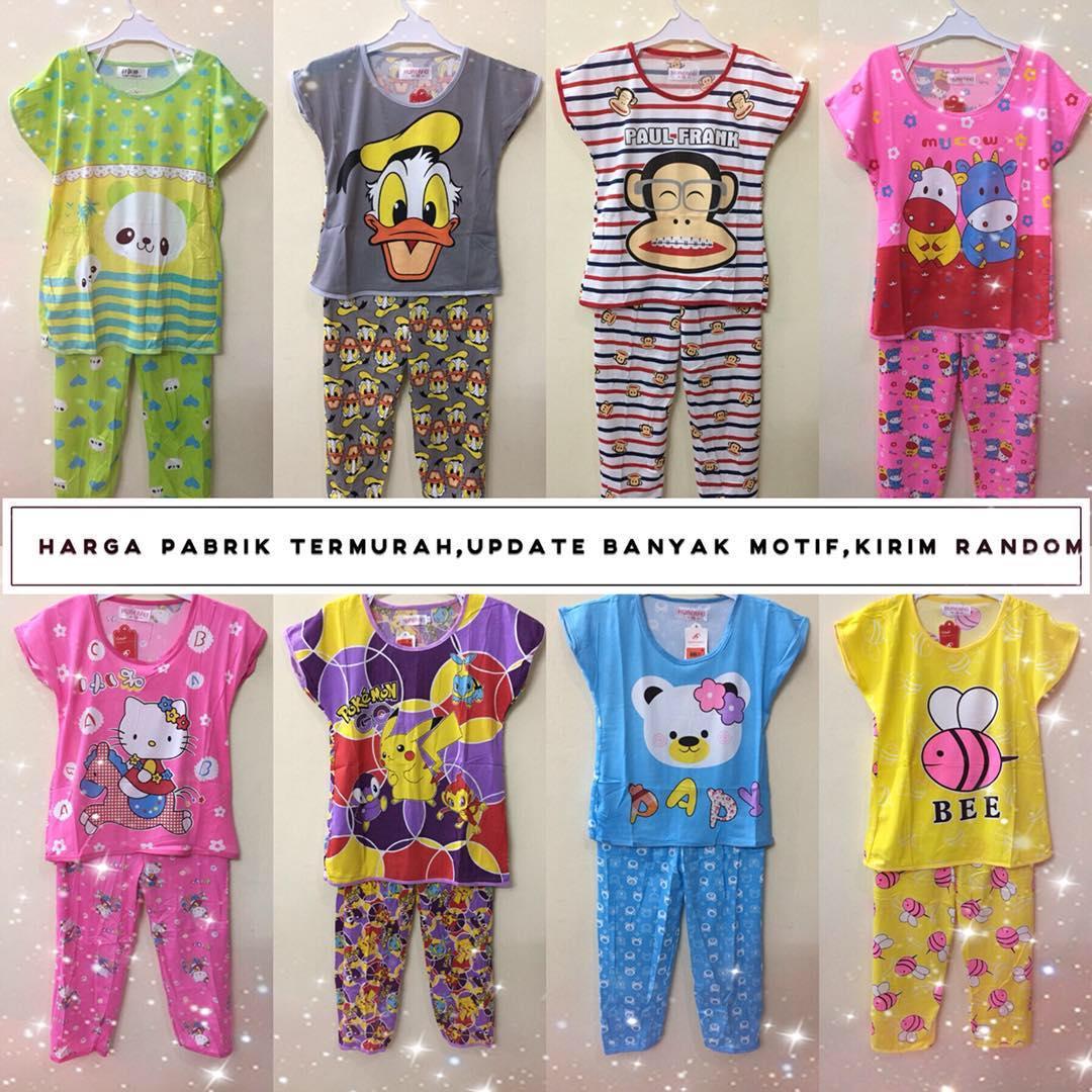 grosir baju tidur piyama cp anak 3-12 tahun stelan fashion murah 66135745d0