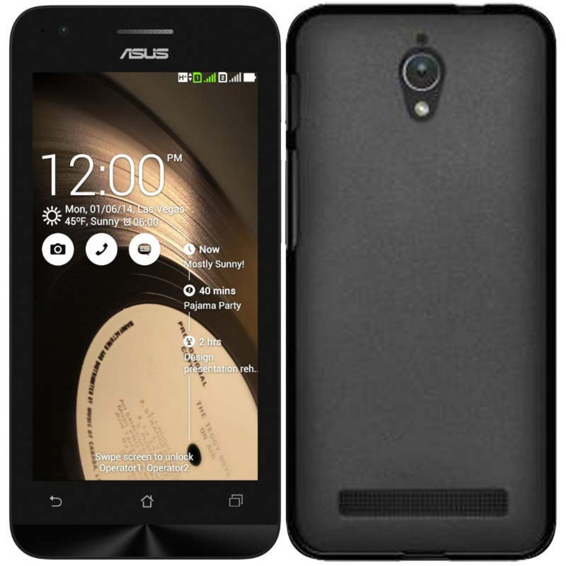 DarkNight for Asus Zenfone C / 4C / ZC451CG | Slim Case Black Matte Softcase Premium (Anti Minyak/Anti Sidik Jari) - Hitam Doff
