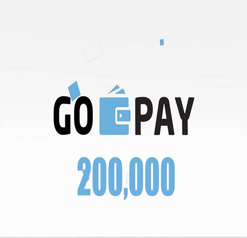 Saldo Gopay isi ulang 200000
