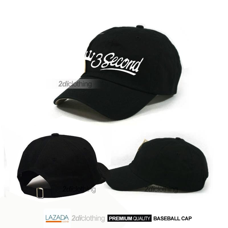 TOPI BASEBALL 3SECOND VARIAN LOGO TOPI TUMBLR TOPI FASHION UNISEX