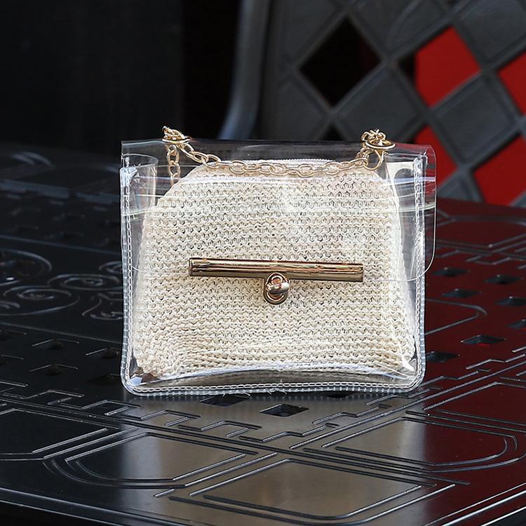 Transparan Peri Tas Perempuan 2018 Model Baru Mini Tas Tali Rantai Modis Jelly Tas Besar Kecil