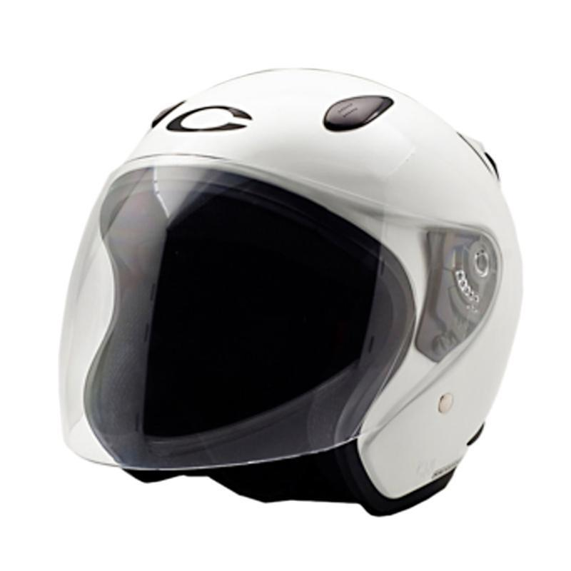 Cargloss YCN Oackley New Helm Half Face - White Met