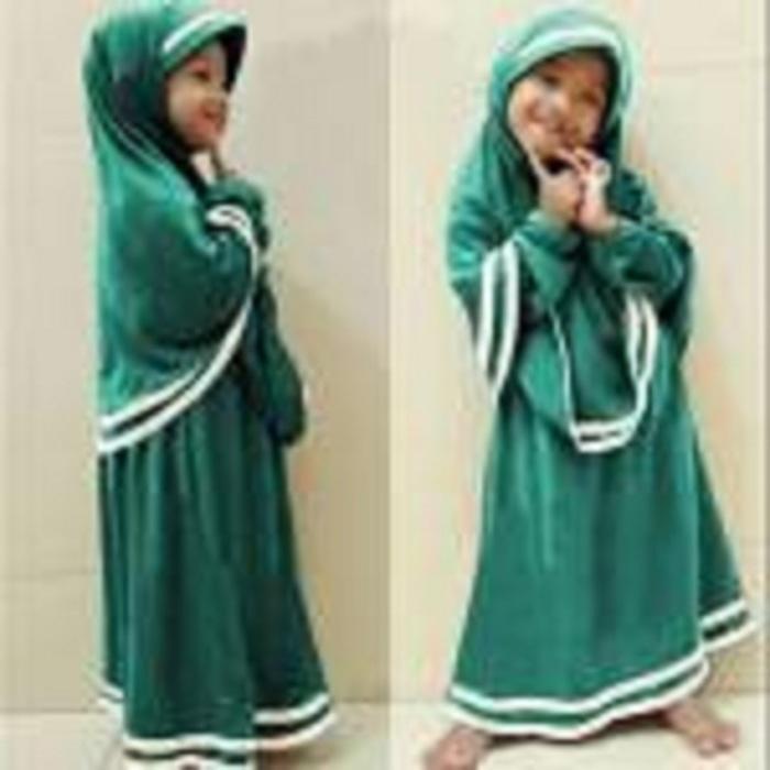 [Syari Anak Hanifa Tosca SW] baju muslim anak perempuan tosca / Baju Muslim Anak / Gamis Anak / Baju Muslim Anak Murah / Best Seller