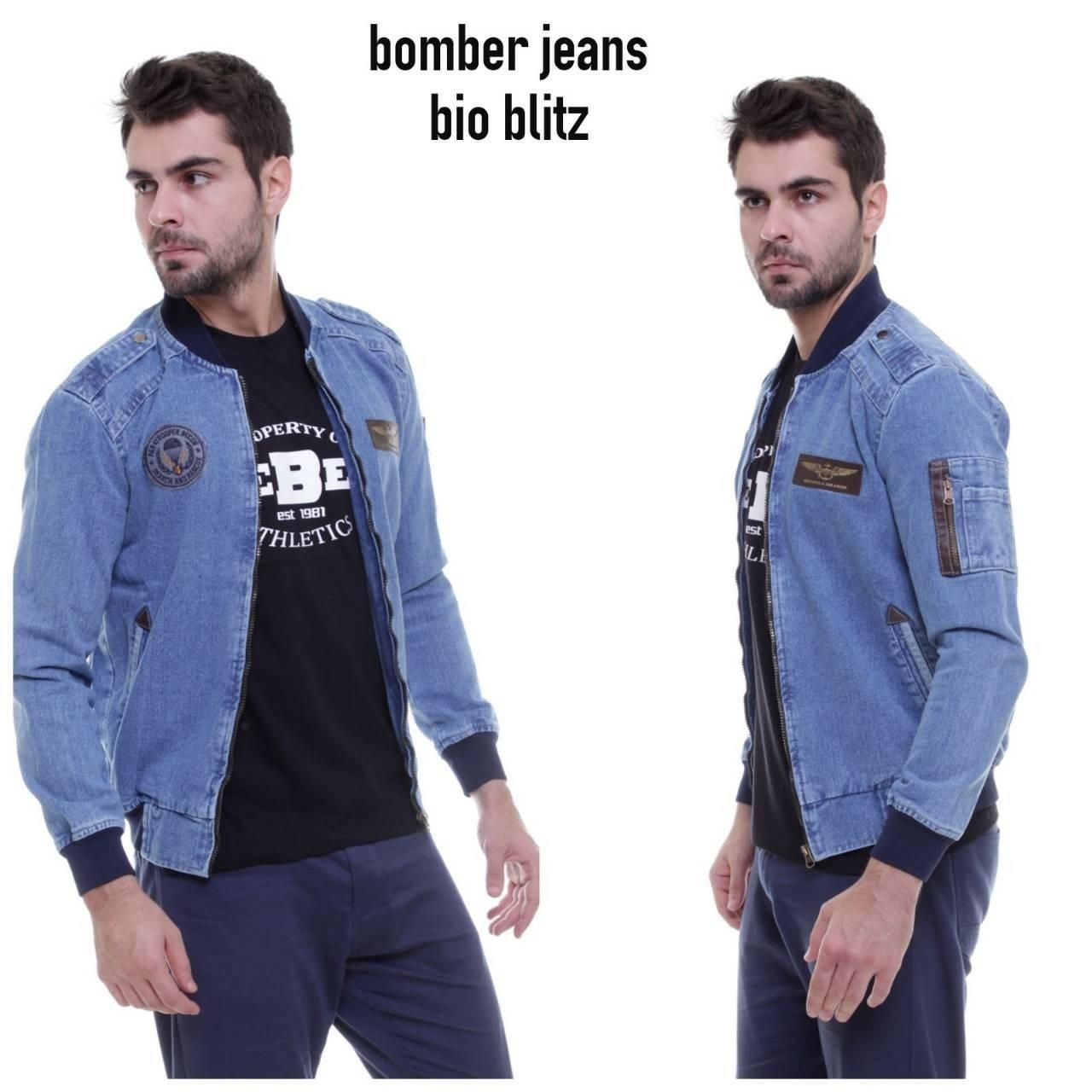 SJ_Jaket bomber jeans pria