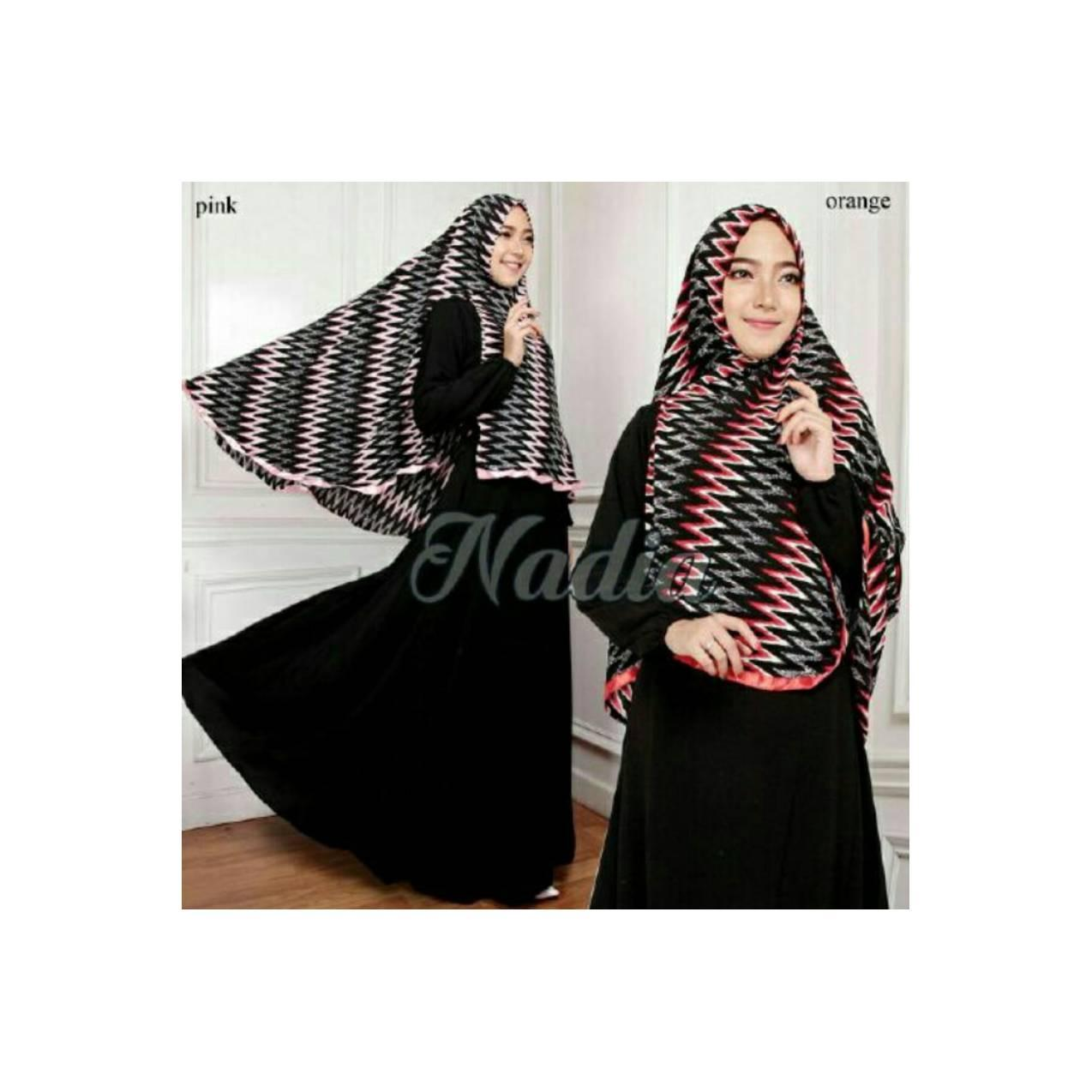 Hot Sale! Gamis Set Khimar NADIA SYARI BLACK