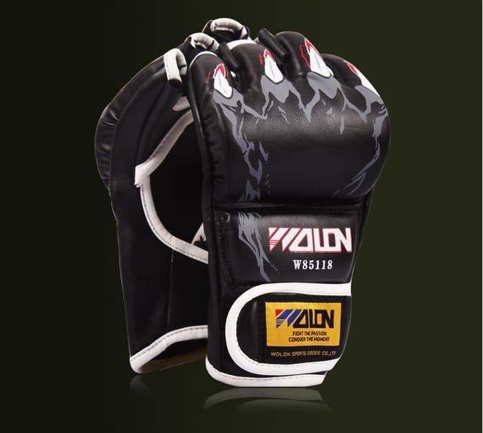 SARUNG TANGAN MMA MUAY THAI KICK BOXING BODY COMBAT - WOLON GLOVE