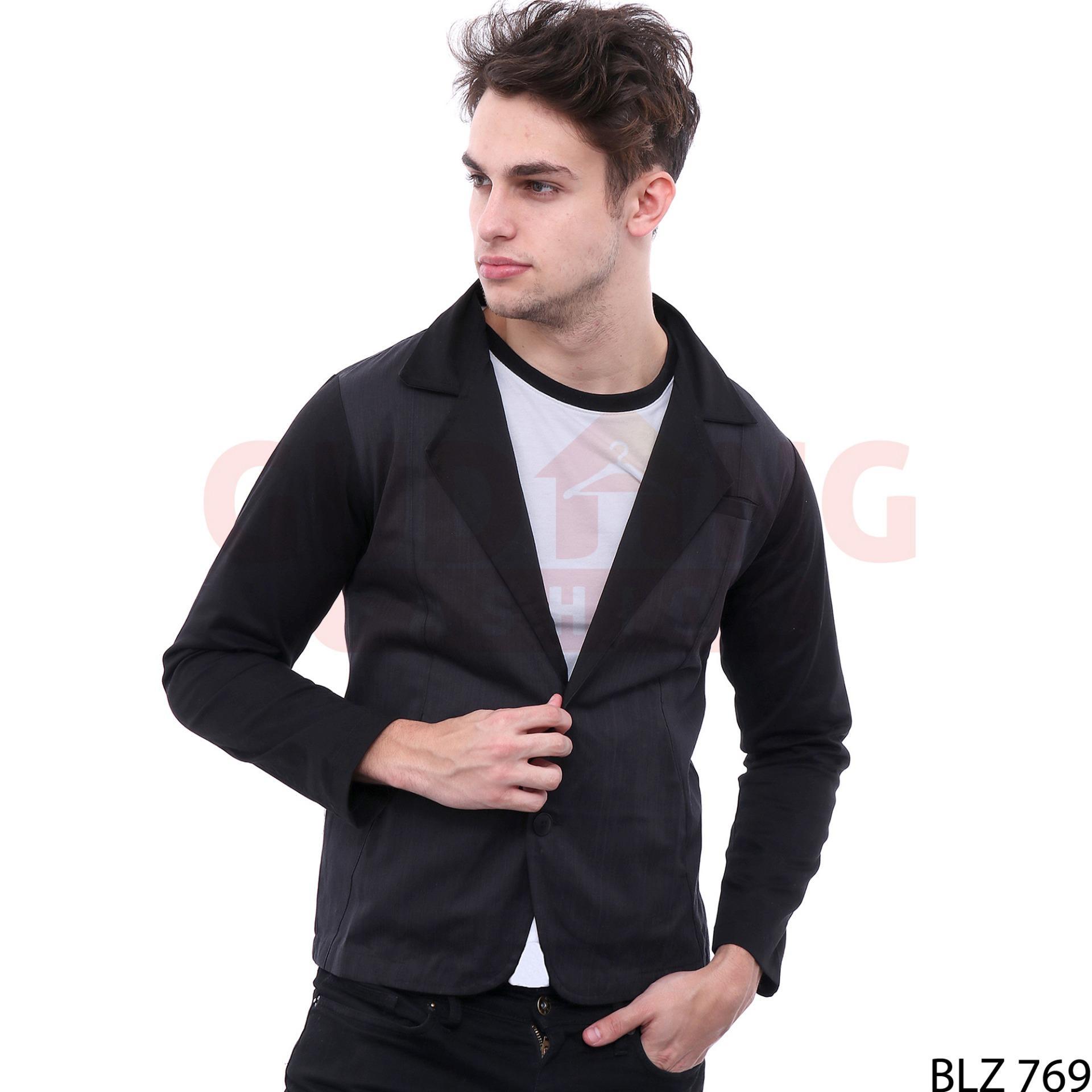 Katalog Jas Lelaki 2018 Crowsdenim Blazer Black Pria Sk85 Gudang Fashion Semi Formal