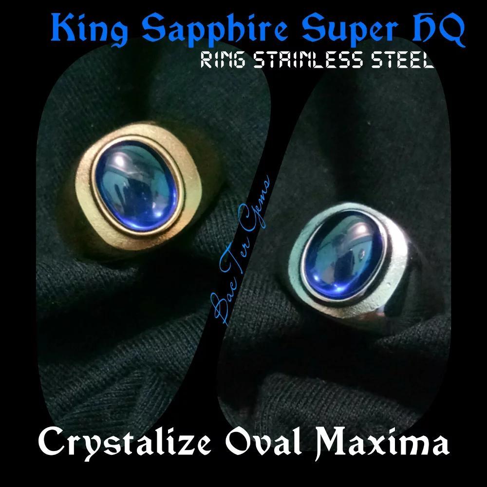 King Sapphire Super HQ...Giwang Sliwar Sliwer...Ring Stainless Steel Silver N Gold