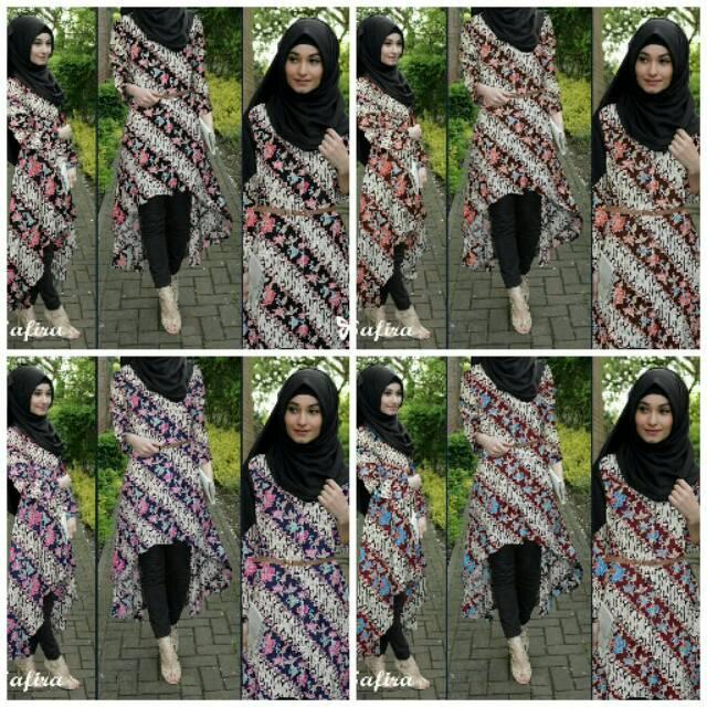 Batik Dress Top Safira .. Baju Safira Cantik Murah Meriah
