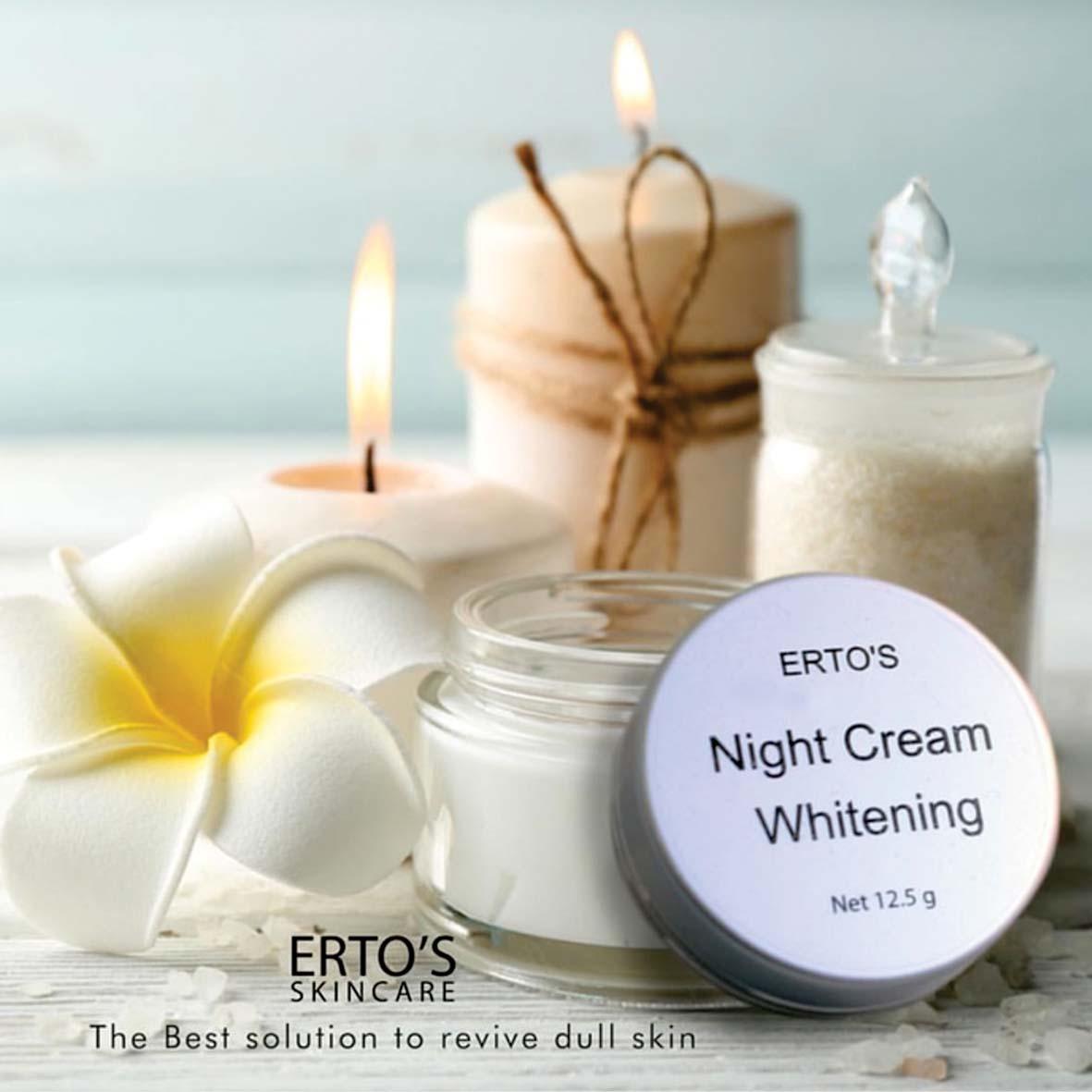 Buy Sell Cheapest Ertos Night Krim Best Quality Product Deals Dermo Care Whitening Cream Malam Menghilangkan Flek Hitam Dan Mengecilkan Pori Wajah Dll Original Aman Hallal Berbpom