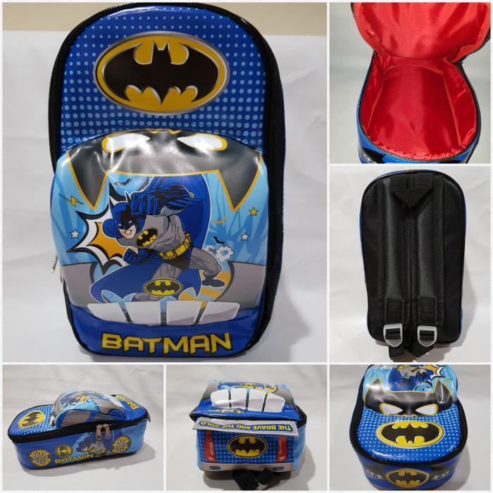 Tas Ransel Anak TK Paud PG Model Mobil Batman