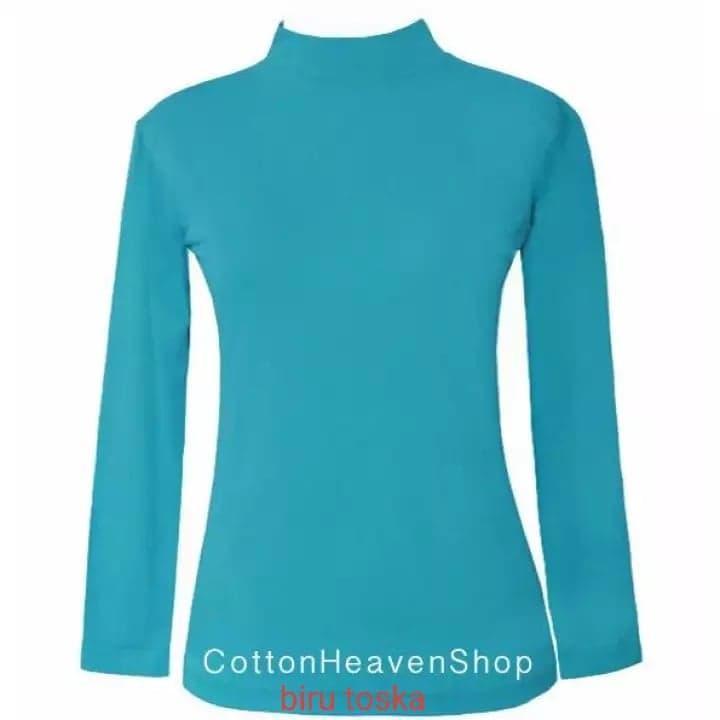 Manset Baju Kaos Atasan Lengan Tangan Panjang Size M - L -Xl (jumbo) Warna Terlengkap By Rizqonn Shop.