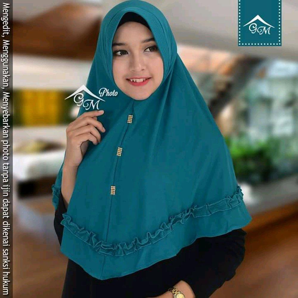 Jilbab Hijab Kerudung Khimar Ped Pet Laser Gotik Spandex Jersey