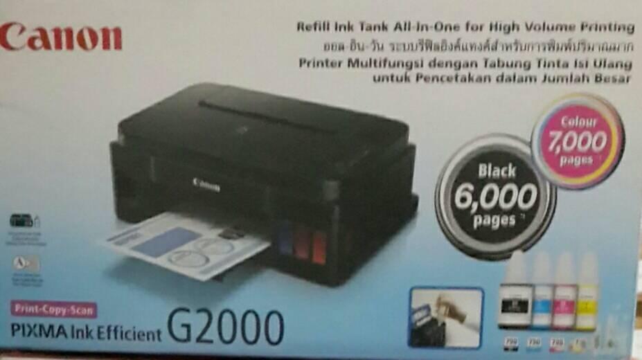 CANON PRINTER PIXMA G2000 / PRINTER G 2000 INFUS RESMI