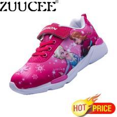 ZUUCEE Girl Fashion Painted Sepatu Anak-anak Sepatu Olahraga Kartun Sepatu  Putri (merah Mawar c919472fa6