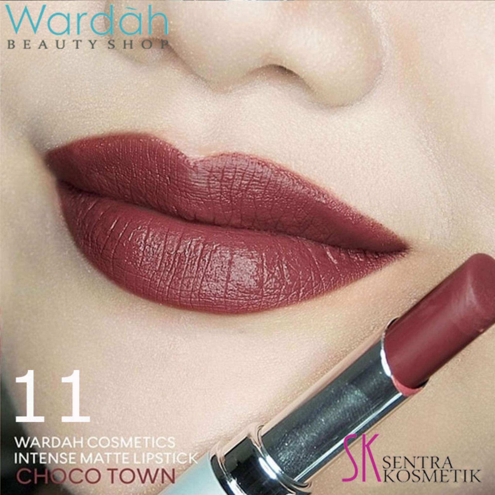 Produk Terlaris Make Over Intense Matte Lip Cream 003 Secret Toko Tahan Lama Hingga 10 Jam Wardah Lipstick 11 Choco Town
