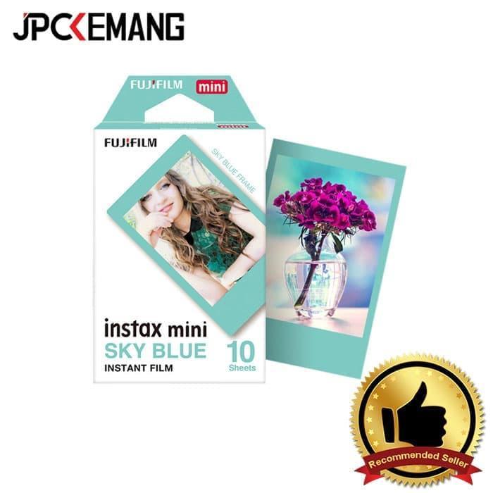 Paper Film Instax Sky Blue Single Pack (10 Sheets) Jpckemang By Jpc Kemang.