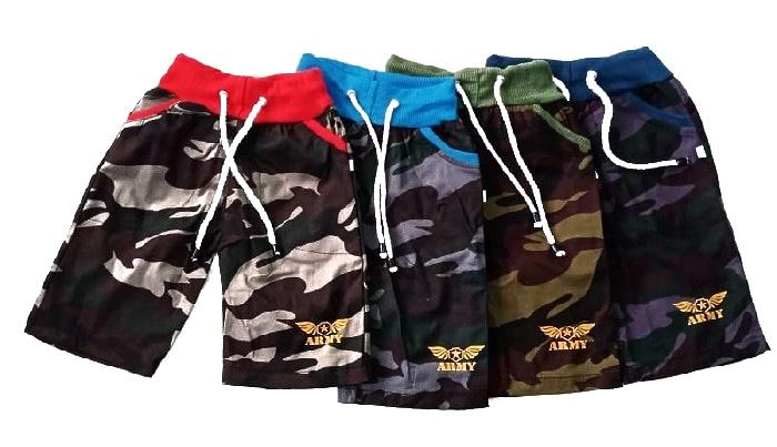 Celana Pendek Anak Army - Warna Random