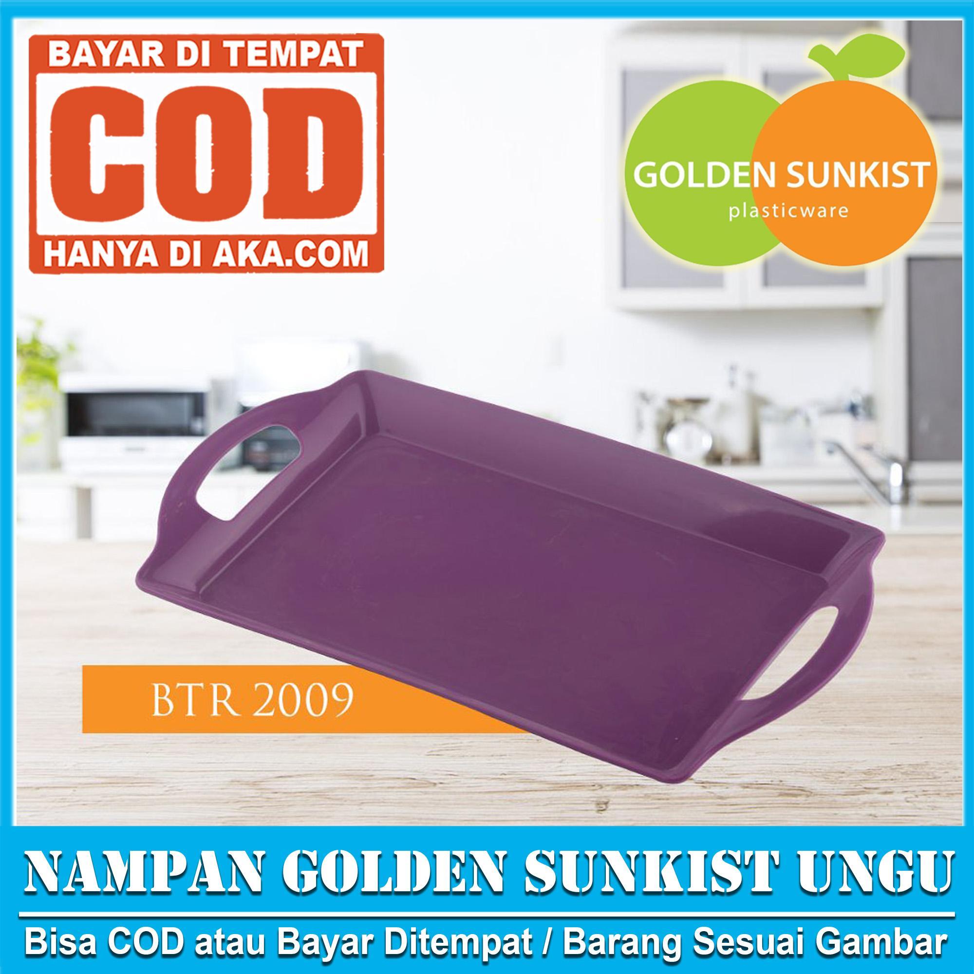 Nampan Baki Golden Sunkist 1pcs BTR 2009 Ukuran 29 X 20 x 3 cm