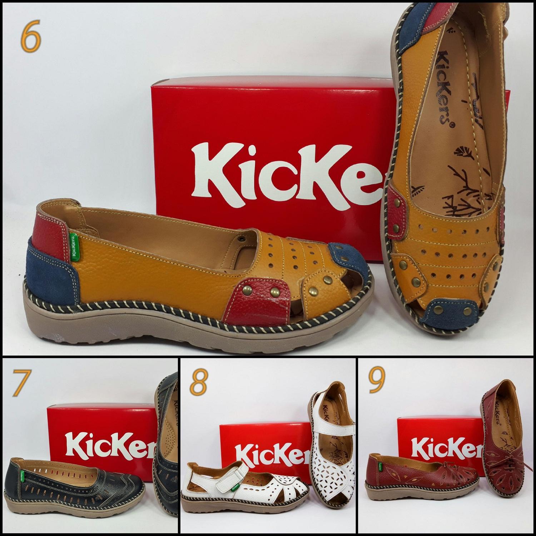 Sepatu Sandal Kickers Wanita Kulit Kode A.104