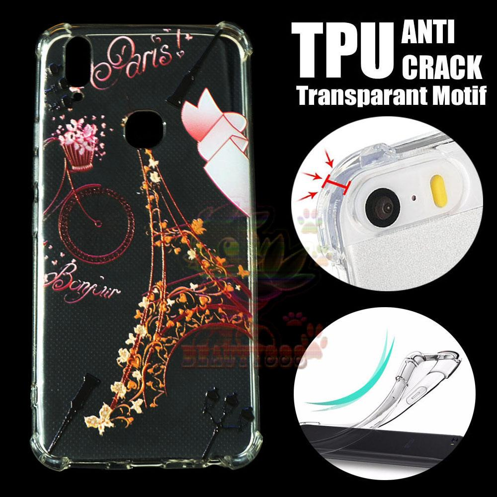 Beauty Case Anti Crack Vivo V9 Case 3D Luxury Animasi Vintage Menara Eiffel Paris Softcase Anti Jamur Air Case 0.3mm / Silicone Vivo V9 / Silikon Anti Shock / Case Hp / Jelly Case Vivo V9 / Anti Crack Gambar / Case Unik - 3