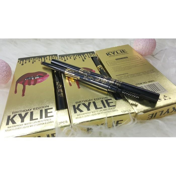 Jual KYLIE EYEBROW 2 In 1 Waterproof Pensil Alis Sikat Like Etude Drawing Diskon