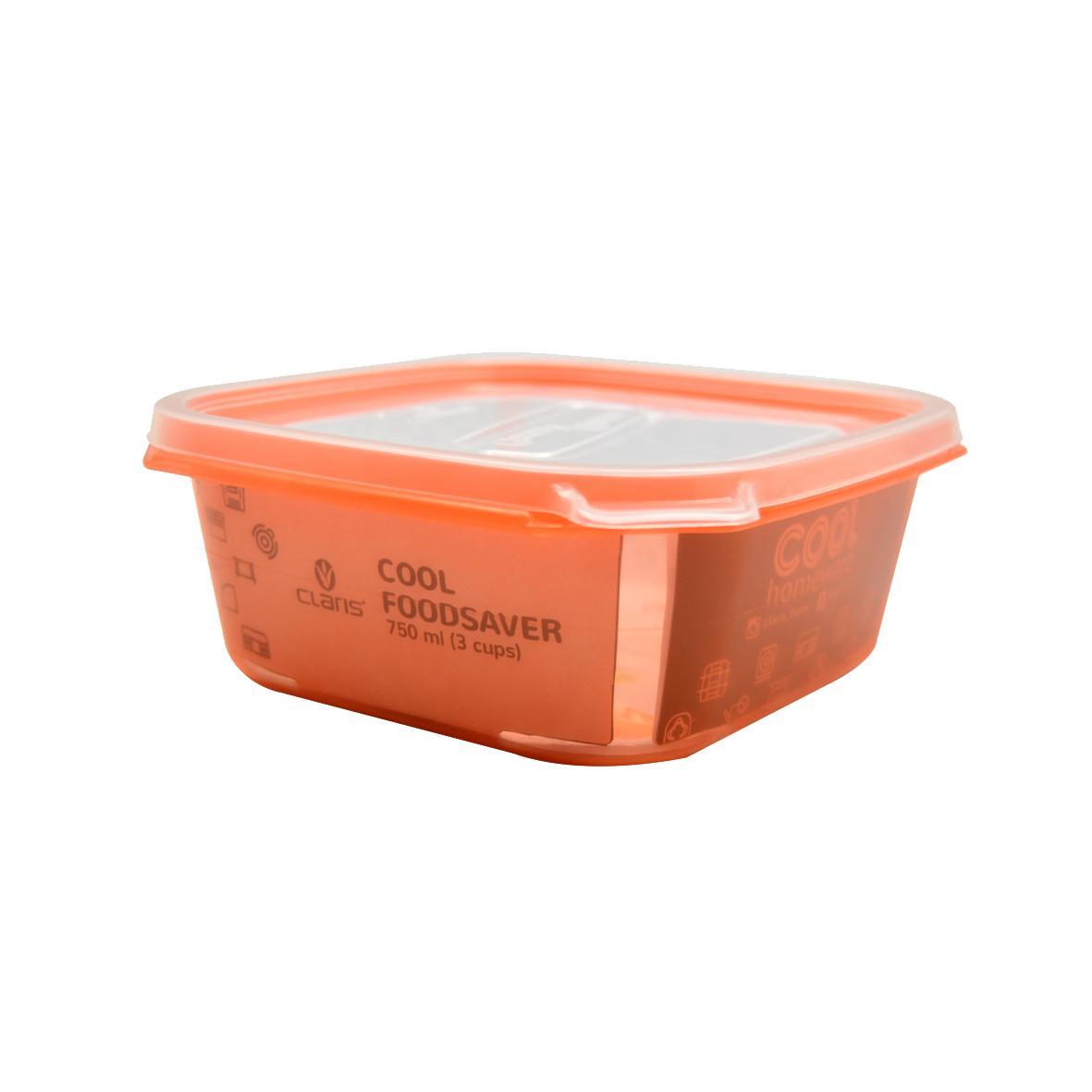 Claris Kotak Makan Persegi / Lunch box / tempat penyimpanan makanan / kulkas organizer / SQ