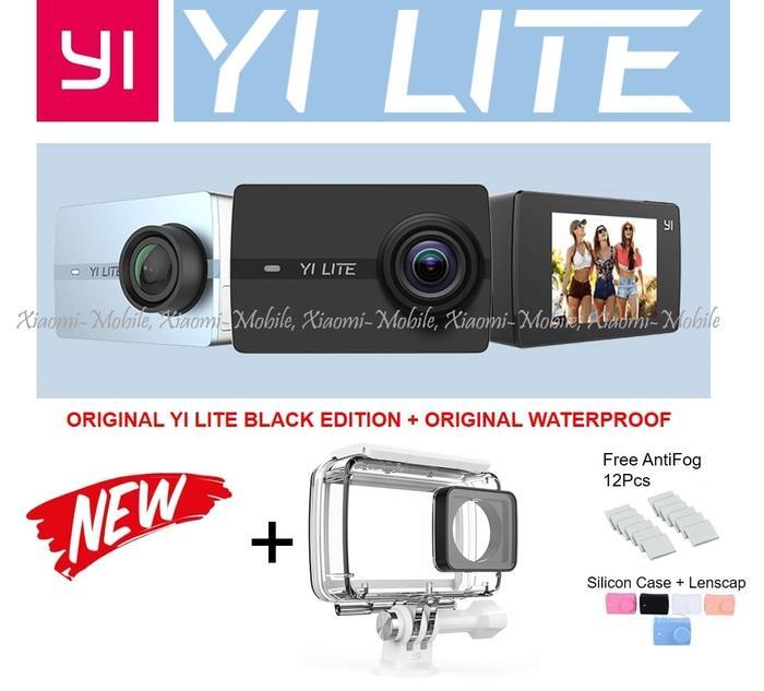 Original Xiaomi Yi LITE Action Camera LCD Plus Original Waterproof Terlaris di Lazada