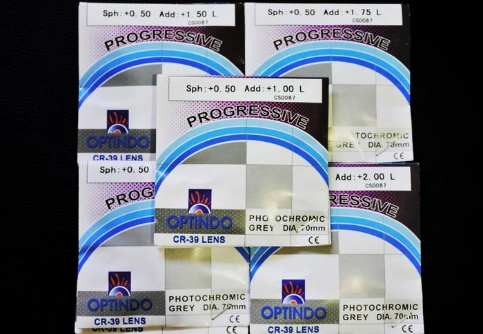 diskon 10%!! Lensa Progresif Photochromic Berubah Warna ( Atas Isi +U002F- ) Plus Minus - ready stock