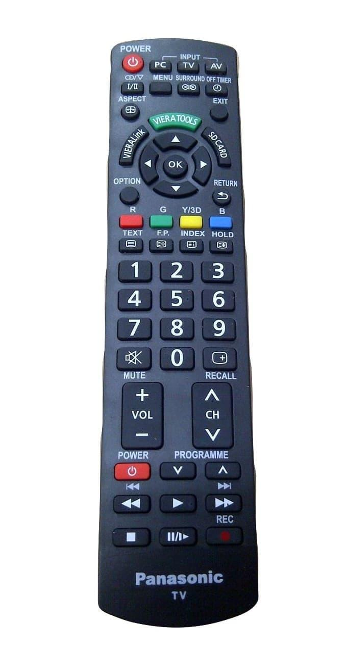 Remote tv LCD/LED merk panasonic black pasti konek