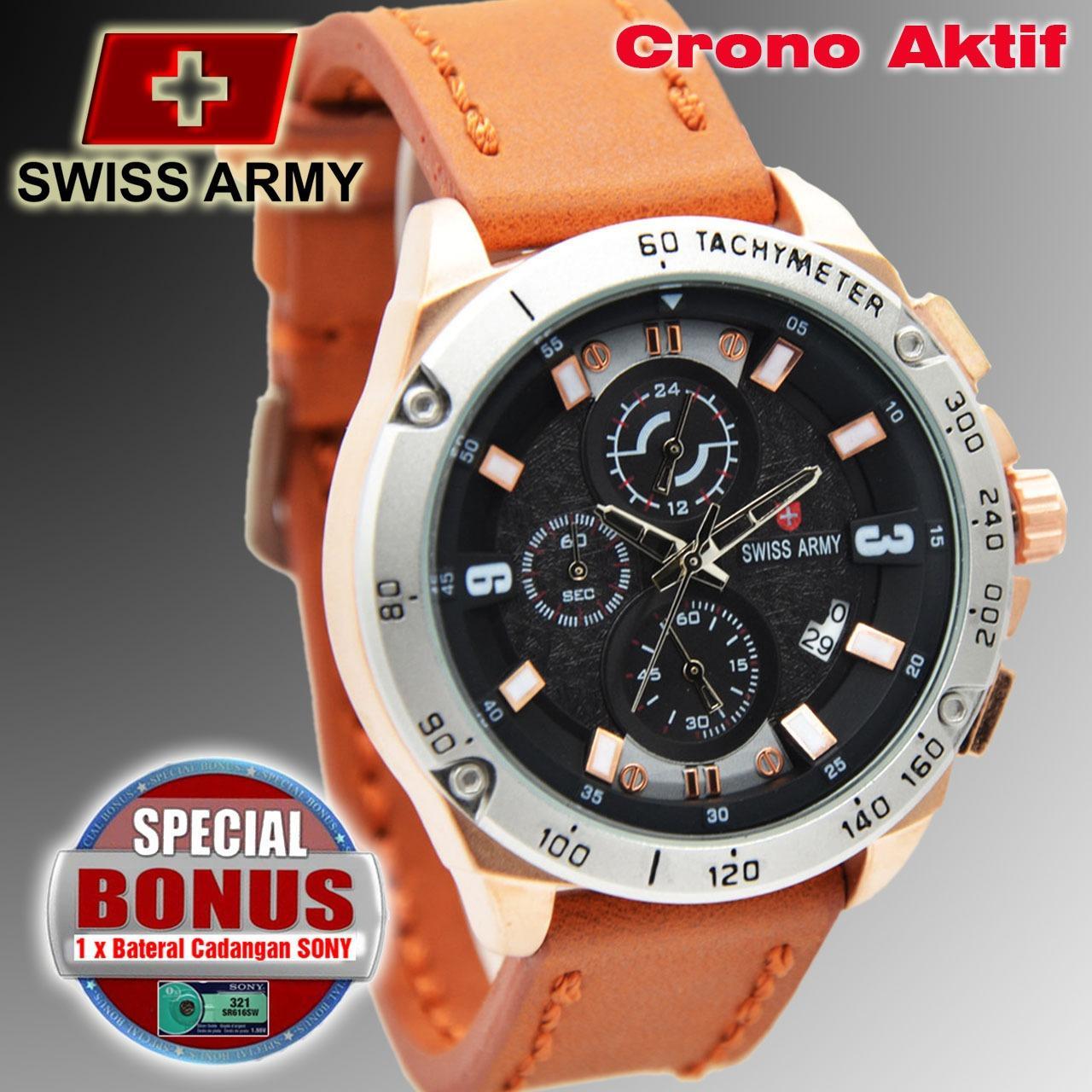 Jam Tangan Swiss Army Harga Terbaik Elegant Day Date Sa 1128 Bl Gry Pria Kulit Hitam 154 Fashion Crono Aktif Strap